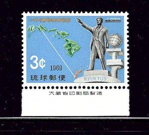 Ryukyu Is 192 MNH 1969 issue       (P112)
