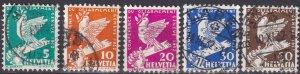 Switzerland #210-4  F-VF Used CV $12.60 (Z4588)