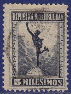 Uruguay - 1922 - Scott #254 - used - Mercury