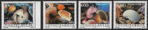 YUGOSLAVIA 1988 SEA SHELLS Set Sc 1894-1897 MNH