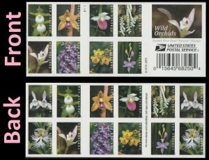 US 5445-5454 5454b Wild Orchids forever booklet (20 stamps) MNH 2020