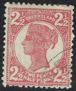 QUEENSLAND 1897 QV 21/2D WMK CROWN/Q CTO WITH GUM