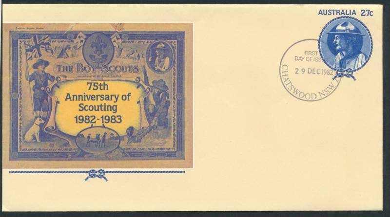 Australia PrePaid Envelope 1982 75th Anniversary of Scouting