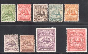 Turks and Caicos Islands #1 to 9 Mint H