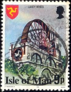 Landmark, Laxey Wheel, Isle of Man stamp SC#118 Used