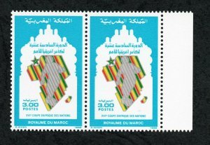 1988 - Morocco - The 16th African Nations Cup Football Competition- Pair - MNH**