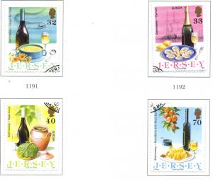 Jersey Sc 1152-5 2005 Europa Gastronomy stamp set Used