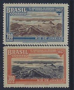 Brazil, Scott #443-444; Bay of Rio de Janeiro, MLH