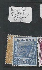 MALAYA SUNGEI UJONG (P1704B) TIGER 2C, 5C  SG 51-2  MOG