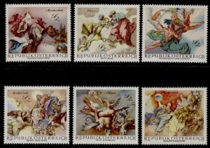 Austria 824-9 MNH Angels, Baroque Frescoes
