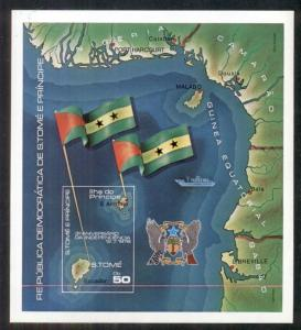 ST THOMAS & PRINCE ISLAND #487a, Mint Hinged, souvenir sheet, Scott $23.20