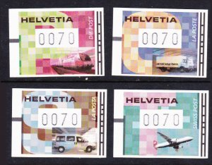 Switzerland 70c vended labels set