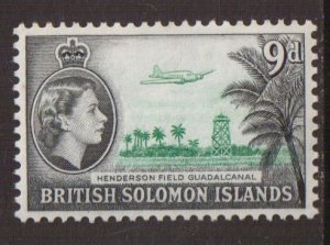 Solomon Islands  #98   MNH  1960  Henderson field  9p