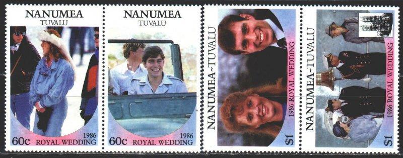 Tuvalu. 1986. 84-87. English royal dynasty. MNH.
