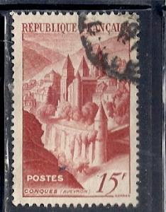 France #590 View of Conques  (U)  CV $1.00