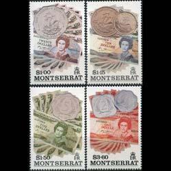 MONTSERRAT 1993 - Scott# 821-4 Coins Set of 4 NH