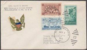USA 1955 cover with nice franking to LAUTOKA, FIJI.........................L936