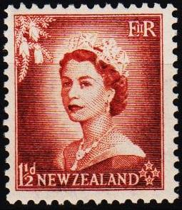 New Zealand. 1953 1 1/2d S.G.725 Mounted Mint