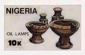 Nigeria 1990 Pottery - original hand-painted artwork for ...