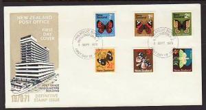 New Zealand 438-443 Butterflies 1970 U/A FDC