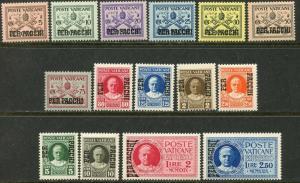VATICAN Sc#Q1-Q15 1931 Parcel Post Complete Set OG Mint NH