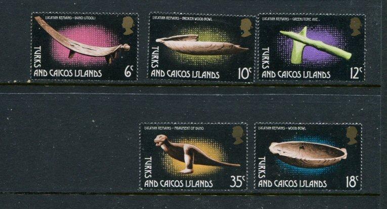 Turks & Caicos Islands MNH 288-92 Lucayan Artifacts