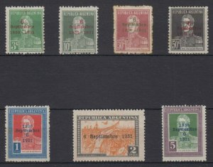 ARGENTINA 1931 Sc 309-405 FULL SET HINGED MINT SCV$89.20