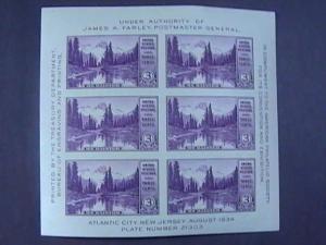 U.S.# 750--MINT/NEVER HINGED--SOUVENIR SHEET OF 6 - APS EXPO---1934