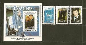Lesotho 545-548 Royal Wedding 1986 Andrew & Sarah Set of 4 MNH