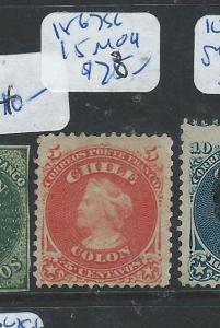 CHILE (P1906B) COLUMBUS5C  SG15 MOG     STAMP 16/2