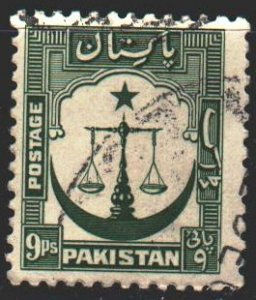 Pakistan. 1948. 26A from the series. Scales of Justice. USED.