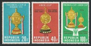 Indonesia 962-964,MNH.Michel 830-832. Badminton World Championship,1996.