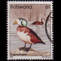 BOTSWANA 1982 - Scott# 308 Pygmy Geese 6t Used