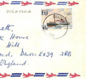 FIJI *Sigatoka* Commercial Air Cover Devon Gift Co 1980 {samwells-covers}BS140
