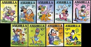 Anguilla 434-442, MNH, Disney Easter 1981