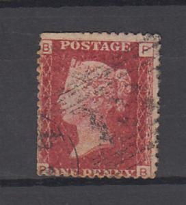 Great Britain  QV  SG 43 OR 44 -   1d  Plate  137  Used   2 Scans   56654