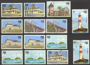 Fiji Sc#409-424 SG# 576/594 (Assorted) Used 1979-1991 Buildings