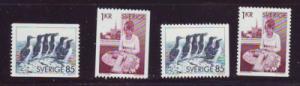 Sweden Sc 1153-6 1976 Auks & Lace Maker stamp set mint NH