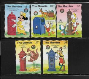 GAMBIA ,644-648, MNH, CHRISTMAS MAIL FROM AUSTRALIA