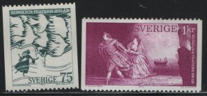 SWEDEN, 992-993  HINGED, 1973, Royal theater