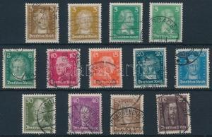 Germany stamp Famous German people set Used 1926 Mi 385-397 WS231711