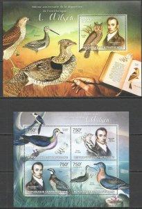 CA685 2013 CENTRAL AFRICA ORNITHOLOGY BIRDS ALEXANDER WILSON KB+BL MNH