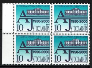 Yugoslavia SC# 2477, Mint Never Hinged, Block of 4 - Lot 061117