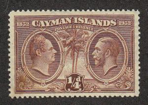 Cayman Islands William & George (Scott #69) MH Bad Gum