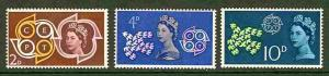 Great Britain # 382-84  Europa - 1961  (3) Mint NH