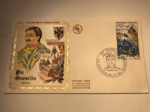 France Colorano silk FDC, 16 novembre 1968, Mort de Du Guesclin