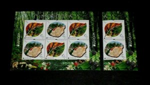 TOPICAL MIXED, 2011, MOLDOVA #714a, EUROPA, S/S, + PAIR, LOT #113, MNH, LQQK