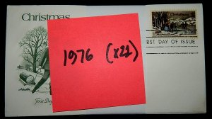 FDCs - 1976 COMMEM YEAR SET - x21 - see photo