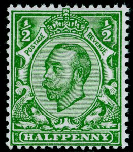 SG344 SPEC N5(4), ½d yellow-green, NH MINT. Cat £20. WMK ROYAL CYPHER (SIMPLE)