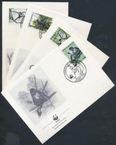 Honduras stamp WWF Geoffroy Mono Ateles set 4 FDC 1990 Mi 1084-1087 WS178049
